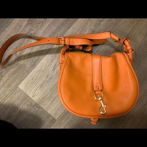 Michael kors orange crossbody bag
